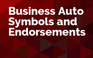 Business Auto Symbols and Endorsements