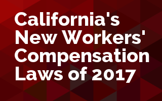 California New Work Comp Laws