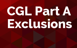 CGL Part A Exclusions