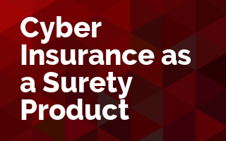 Cyber Insurance as a Surety Product