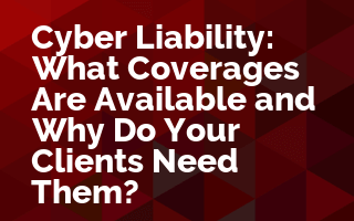 Cyber Liability: What Coverages Are Available and Why Do Your Clients Need Them?