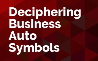 Deciphering Business Auto Symbols