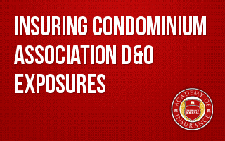 Insuring Condominium Association D&O Exposures