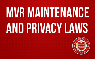 MVR Maintenance and Privacy Laws...You will be fined