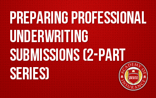 Preparing Professional Underwriting Submissions (2-part series)