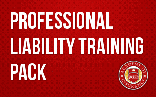 Professional Liability Training Pack