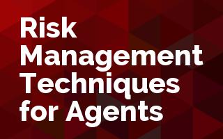 Risk Management Techniques for Agents