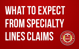 What to Expect from Specialty Lines Claims