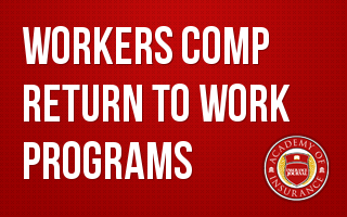 Workers Comp Return to Work Programs