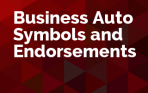 Business Auto Symbols and Endorsements