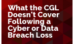 What the CGL Doesn't Cover Following a Cyber or Data Breach Loss