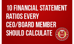10 Financial Statement Ratios Every CEO and Board Member Should Calculate and Review