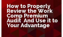 How to Properly Review the Work Comp Premium Audit: And Use it to Your Advantage