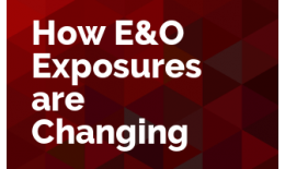 How E&O Exposures are Changing