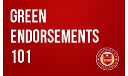 Green Endorsements 101