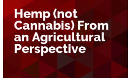 Hemp (not Cannabis) From an Agricultural Perspective
