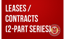 Leases and Contracts (2-part series)