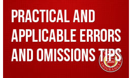 Practical and Applicable Errors and Omissions Tips
