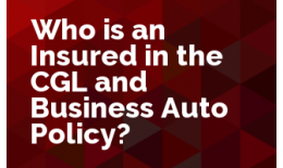 Who is an Insured in the CGL and Business Auto Policy?