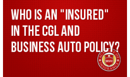 "Who is an ""Insured"" in the CGL and Business Auto Policy?"