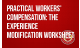 Practical Workers' Compensation: The Experience Modification Worksheet